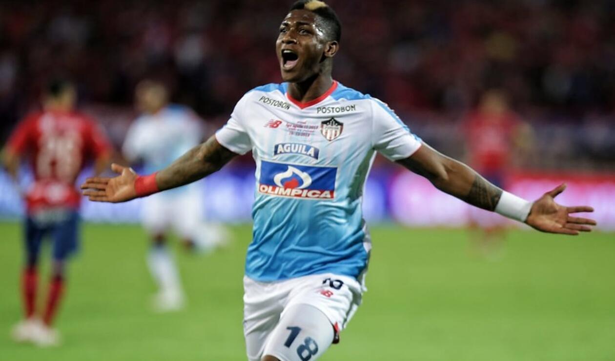 Yony González terminó siendo el salvador del Junior ante Medellín