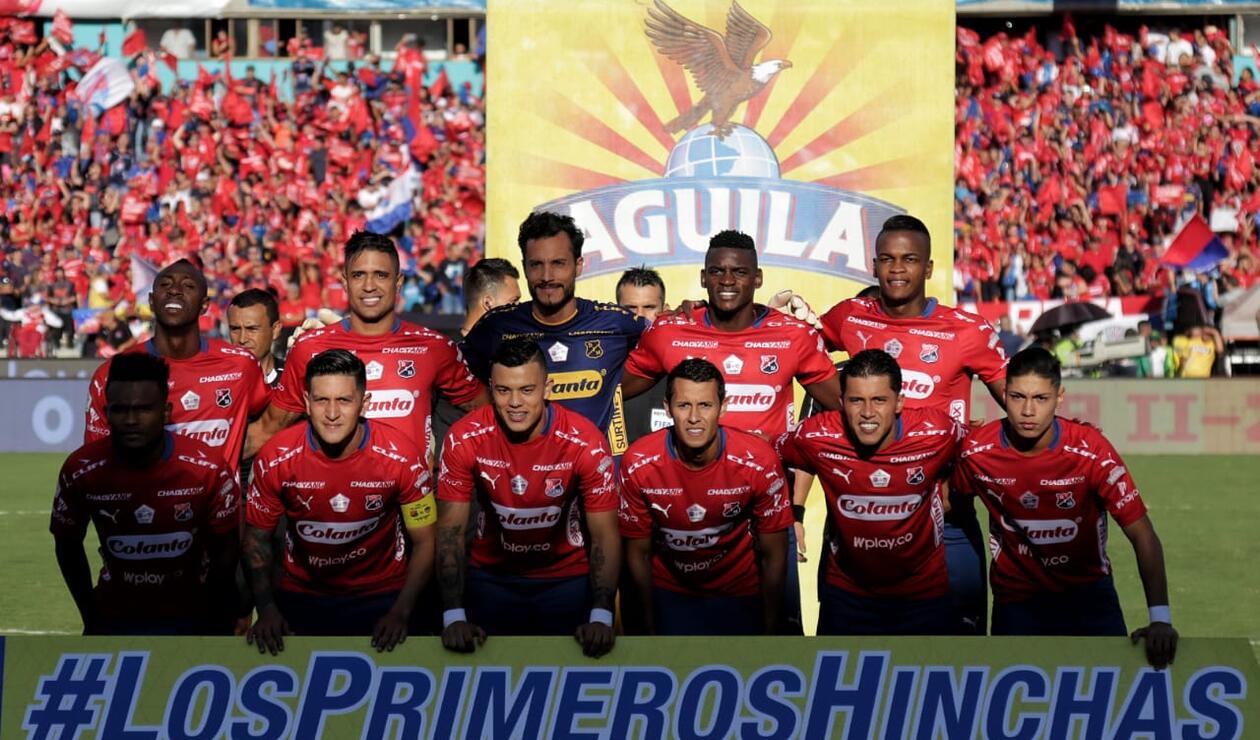 Formación del Independiente Medellín antes de la finalísima ante el Junior