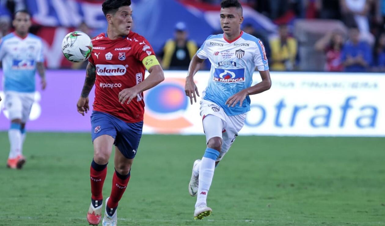 Germán Cano, un hombre incisivo para el Medellín en la final ante Junior