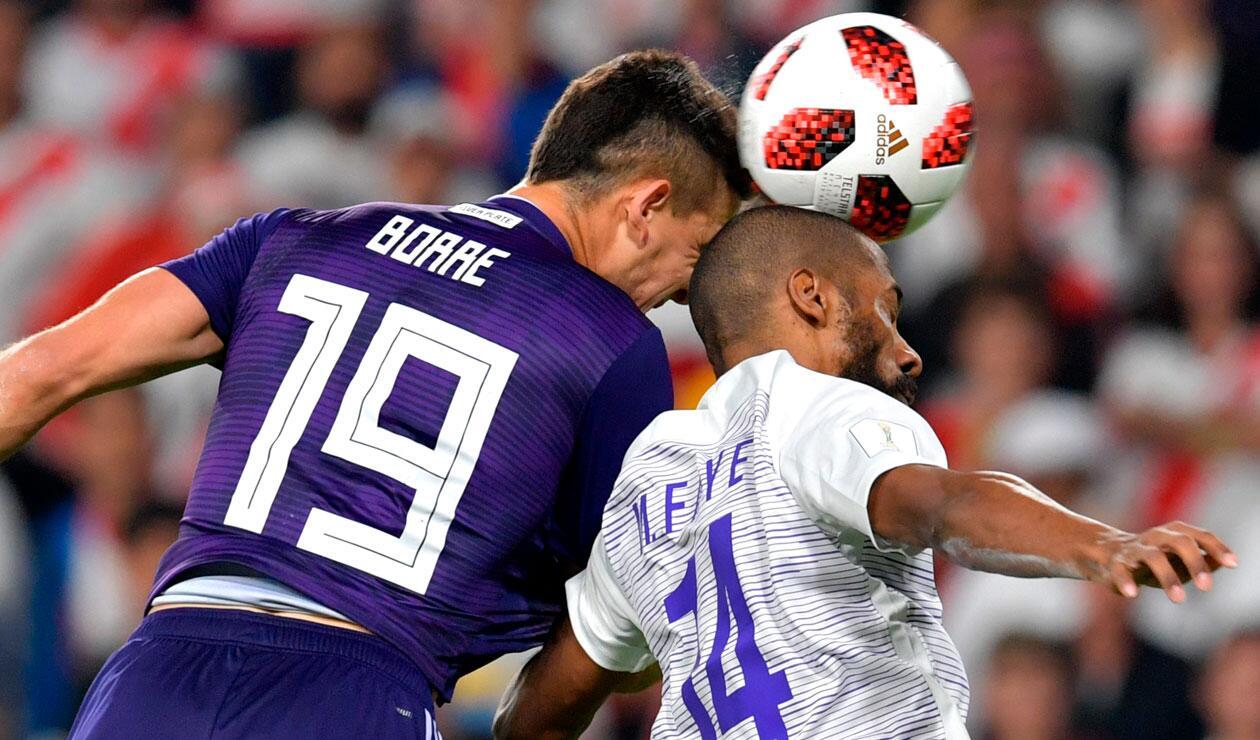 Rafael Santos Borré fue la figura de River Plate en el arranque del partido ante Al Ain