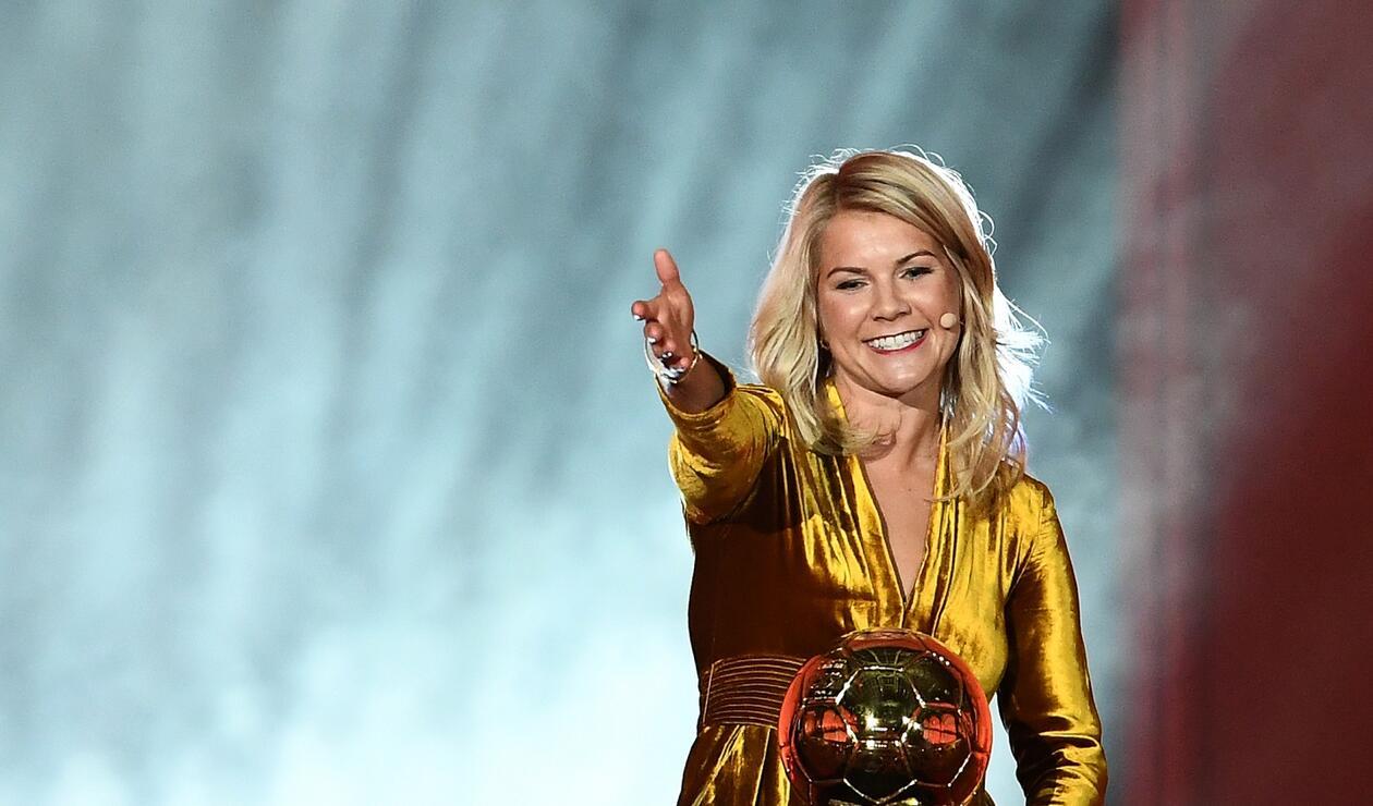 Ada Hegerberg, ganadora del Balón de Oro femenino 2018.