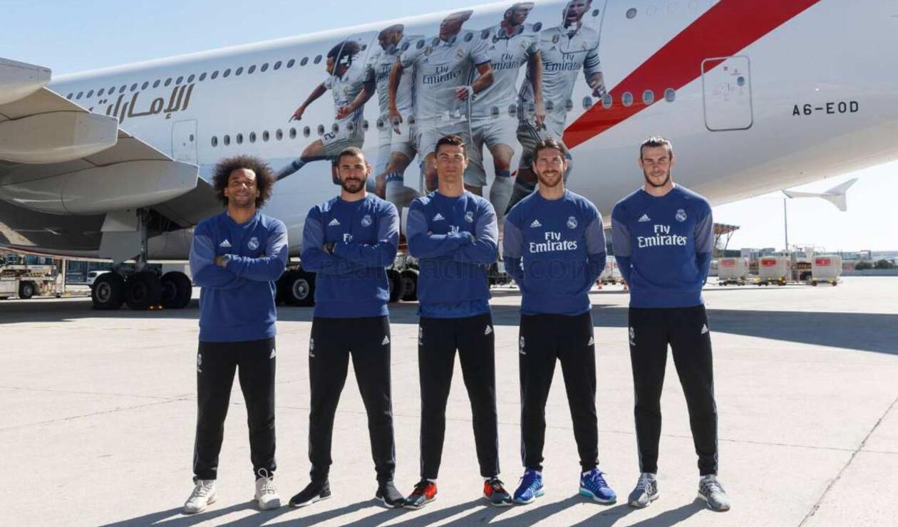 Avión Emirates del Real Madrid