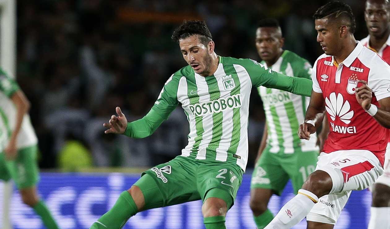 Gonzalo Castellani jugando para Atlético Nacional