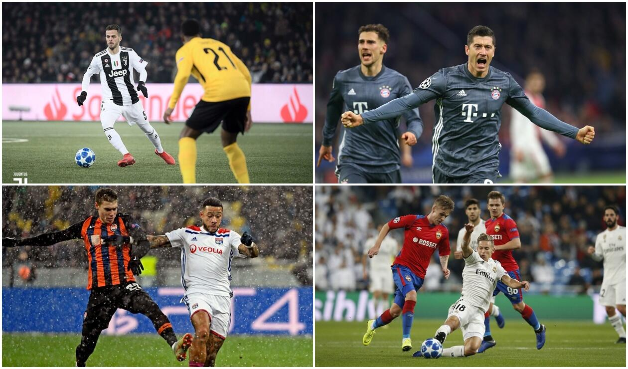 Juventus, Bayern, Lyon y Real Madrid - Champions League 2018
