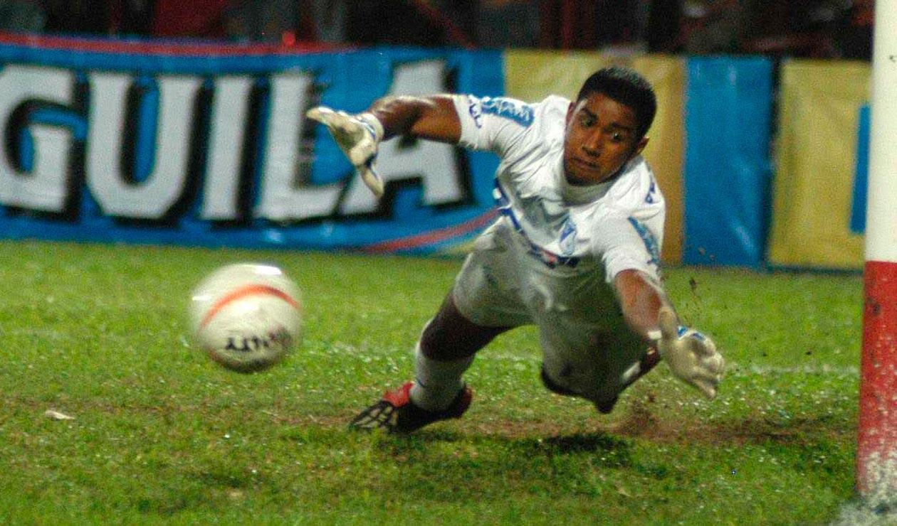 José Fernando Cuadrado en su época como arquero de Millonarios en 2007