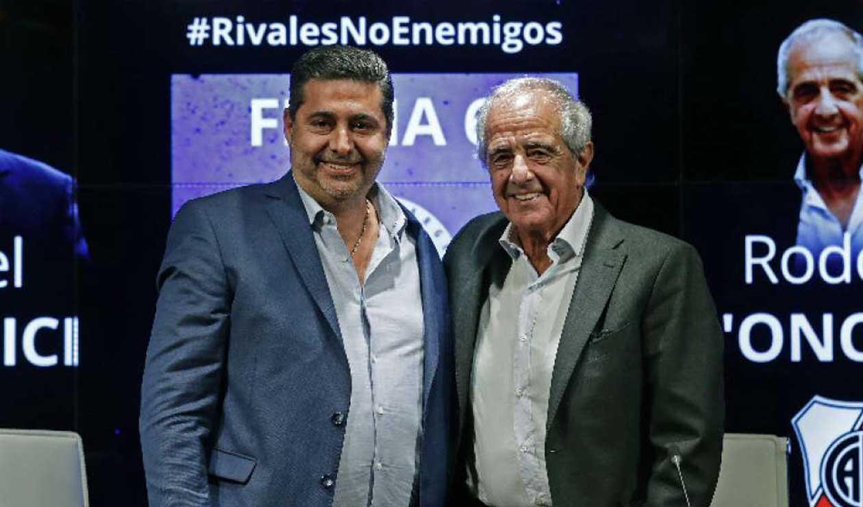 Daniel Angelici y Rodolfo D'Onofrio