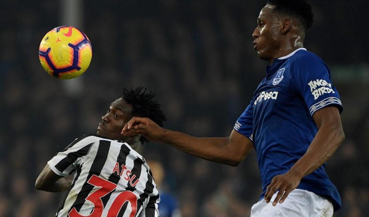 Everton vs New Castle, Yerry Mina