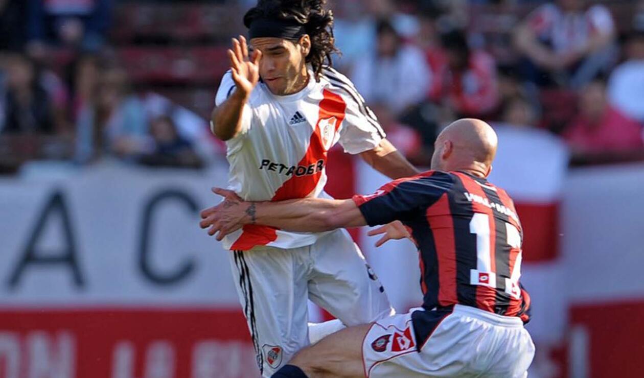 Radamel Falcao y Sebastián Méndez