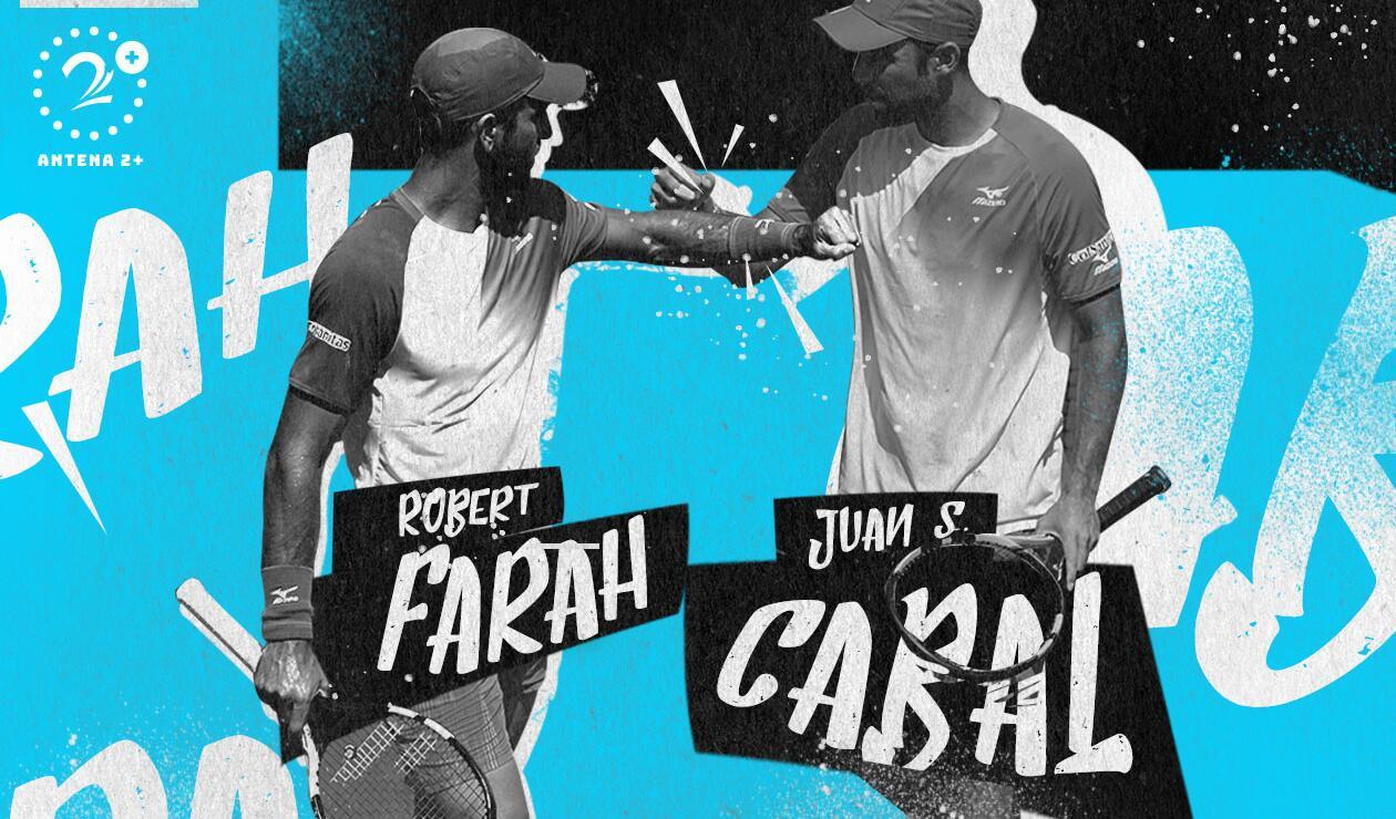 Sebastián Cabal y Robert Farah, tenistas colombianos