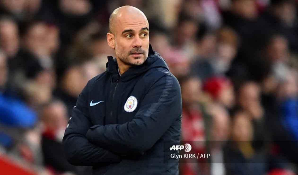 Josep Guardiola, técnico del Manchester City