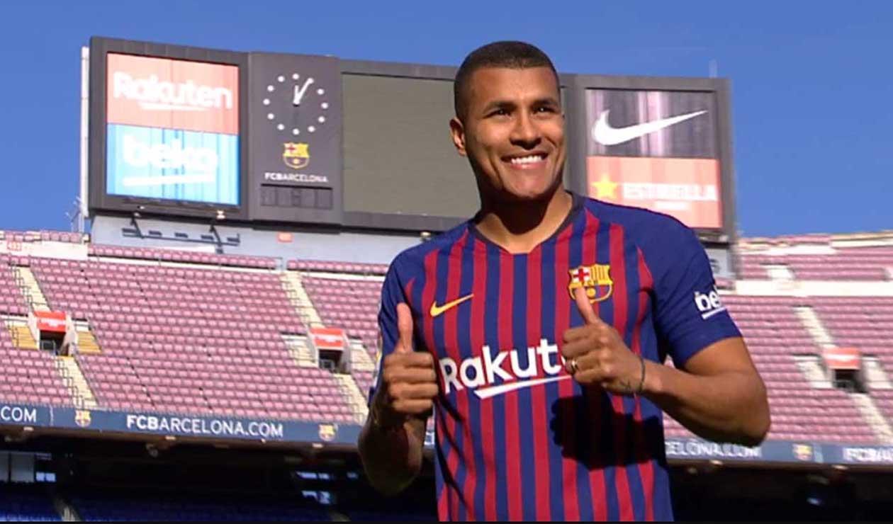 Murillo, feliz al ser presentado como jugador del Barcelona