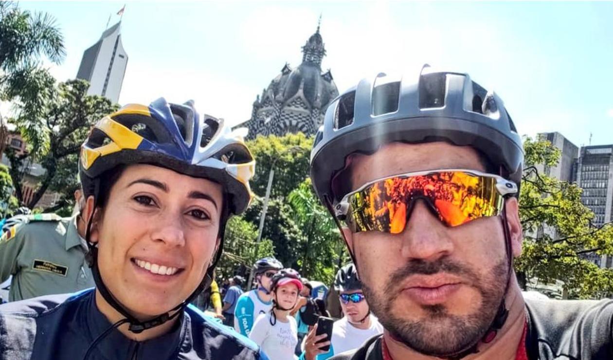Mariana Pajón y su hermano Miguel