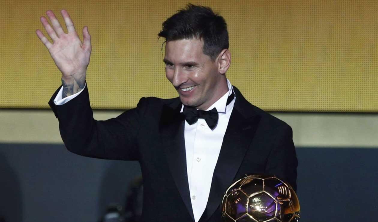 Messi lleva 5 Balones de Oro en su carrera