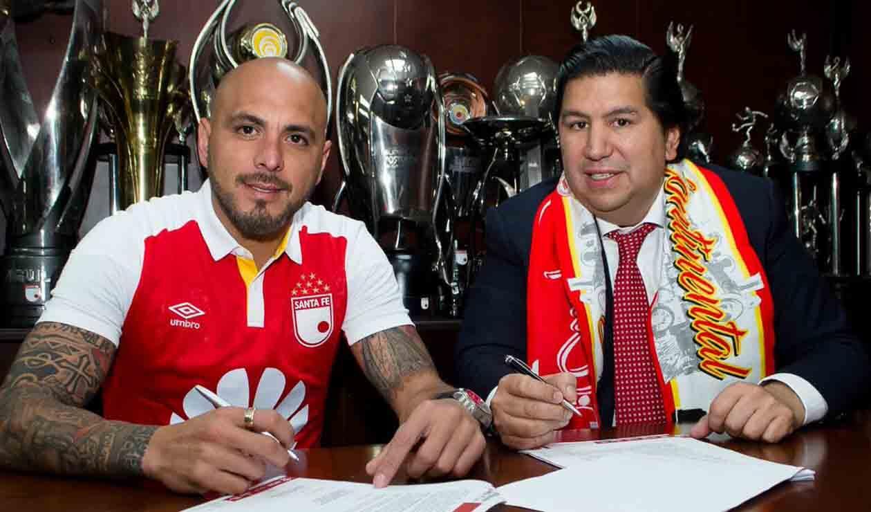 Omar Pérez y el presidente Juan Andrés Carreño