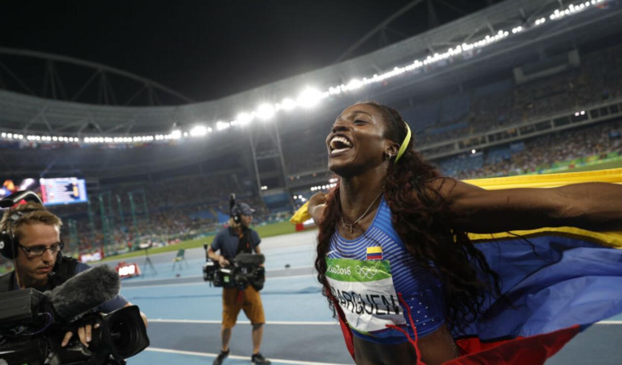 Caterine Ibargüen ganó el triple salto de los Olímpicos de Río 2016