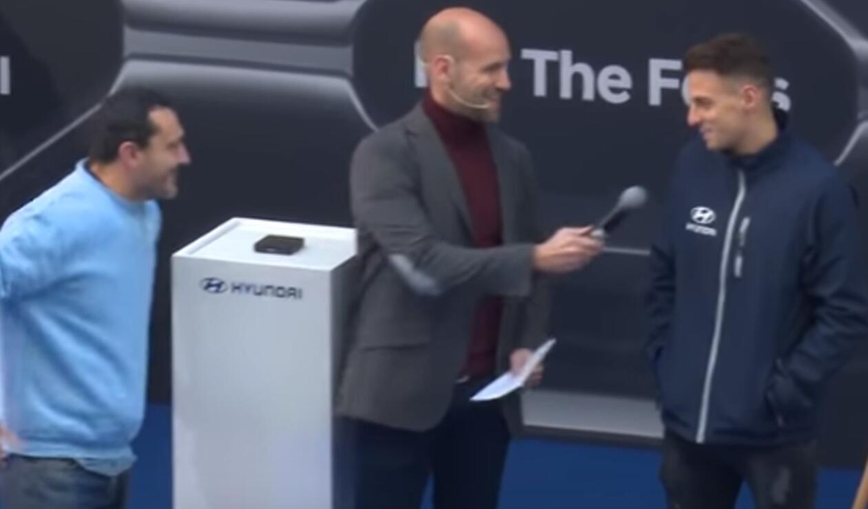 Santiago Arias en un acto comercial del Atlético de Madrid