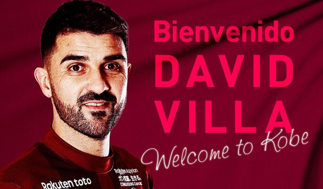 David Villa fue anunciado por el Vissel Kobe dirigido por Juan Manuel Lillo