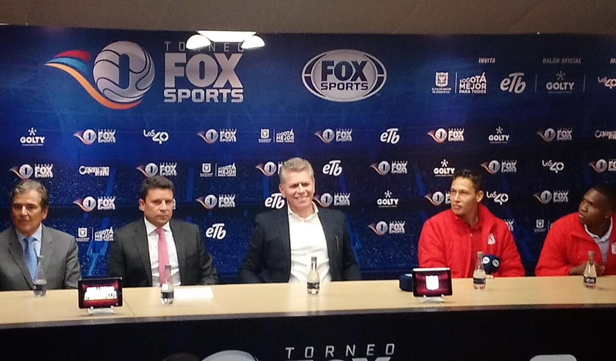 Técnico de Nacional en la presentación del Torneo Fox Sports