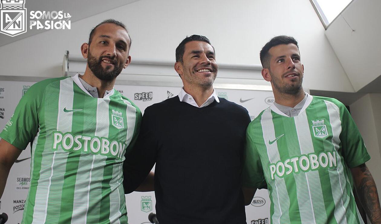 Hernán Barcos, Francisco Nájera y Pablo Ceppelini