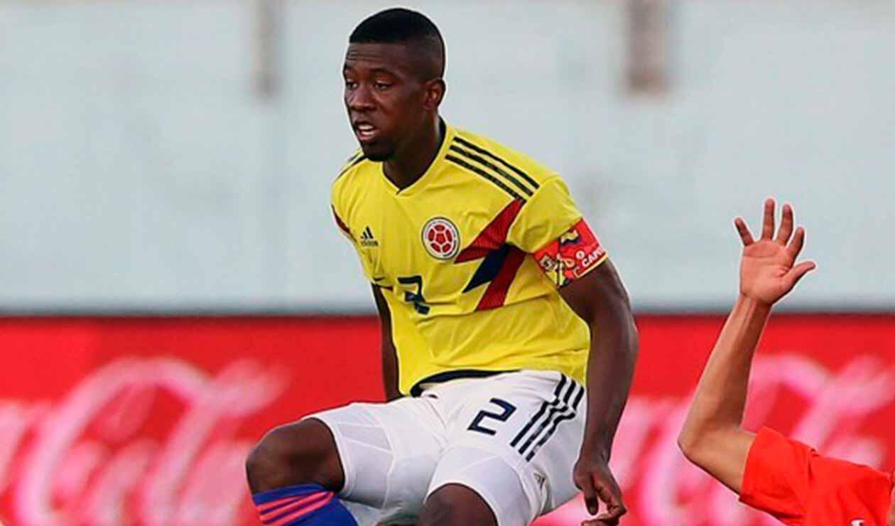 Carlos Cuesta, central de la Selección Colombia