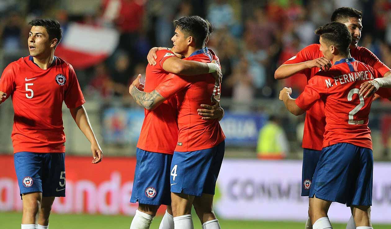 Chile derrota a Brasil y revive en el Sudamericano Sub-20