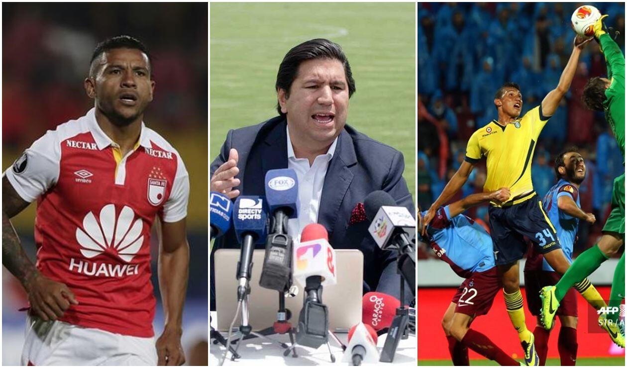 Wilson Morelo, Juan Andrés Carreño y 'Coco' Perea