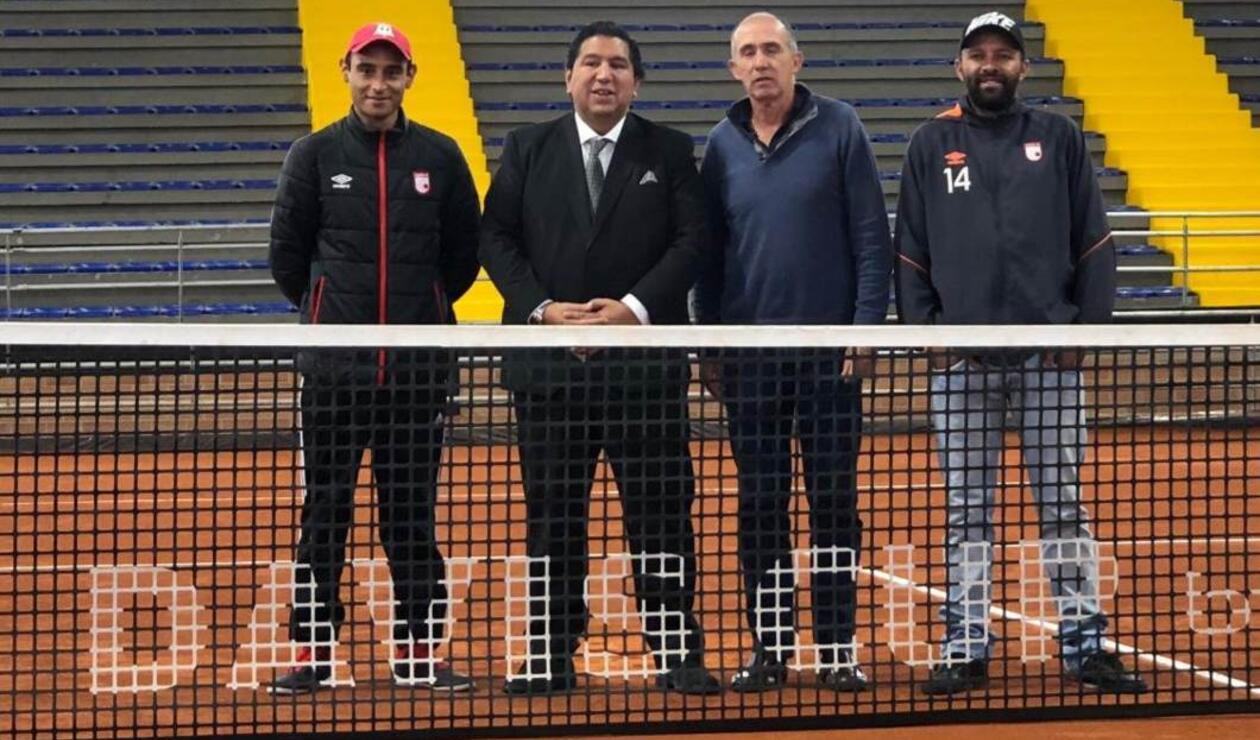 Copa Davis con hinchas de Santa Fe