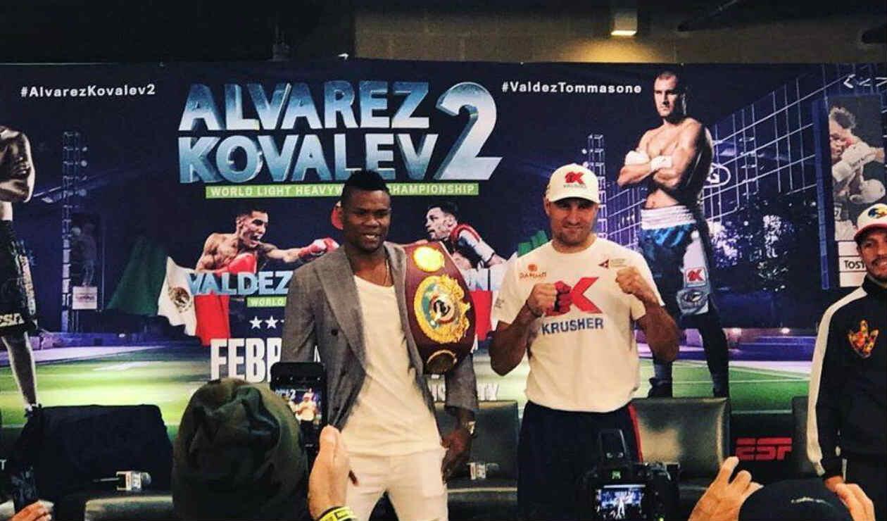 Presentación del combate de Eléider Álvarez