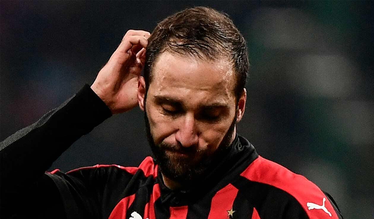 Gonzalo Higuaín tiene las horas contadas en el Milán ante el interés del Chelsea
