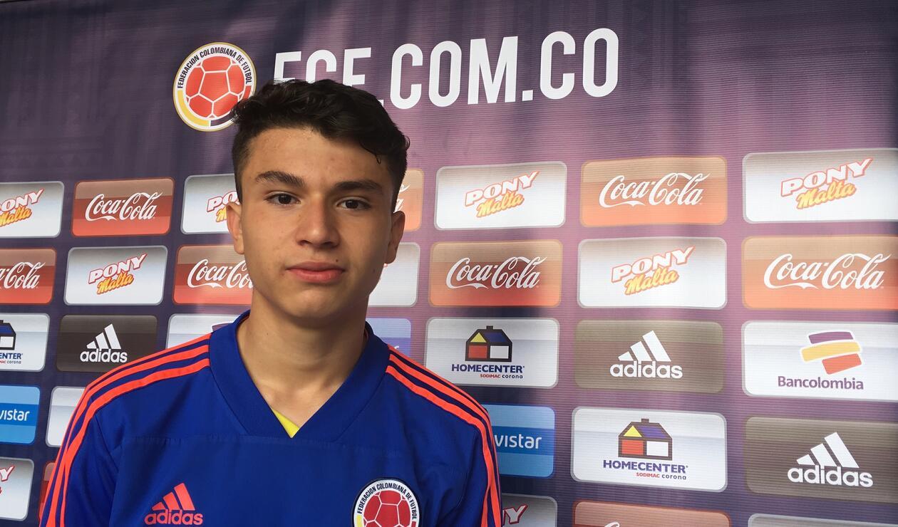 Juan David Fuentes, jugador sub 17 Colombia