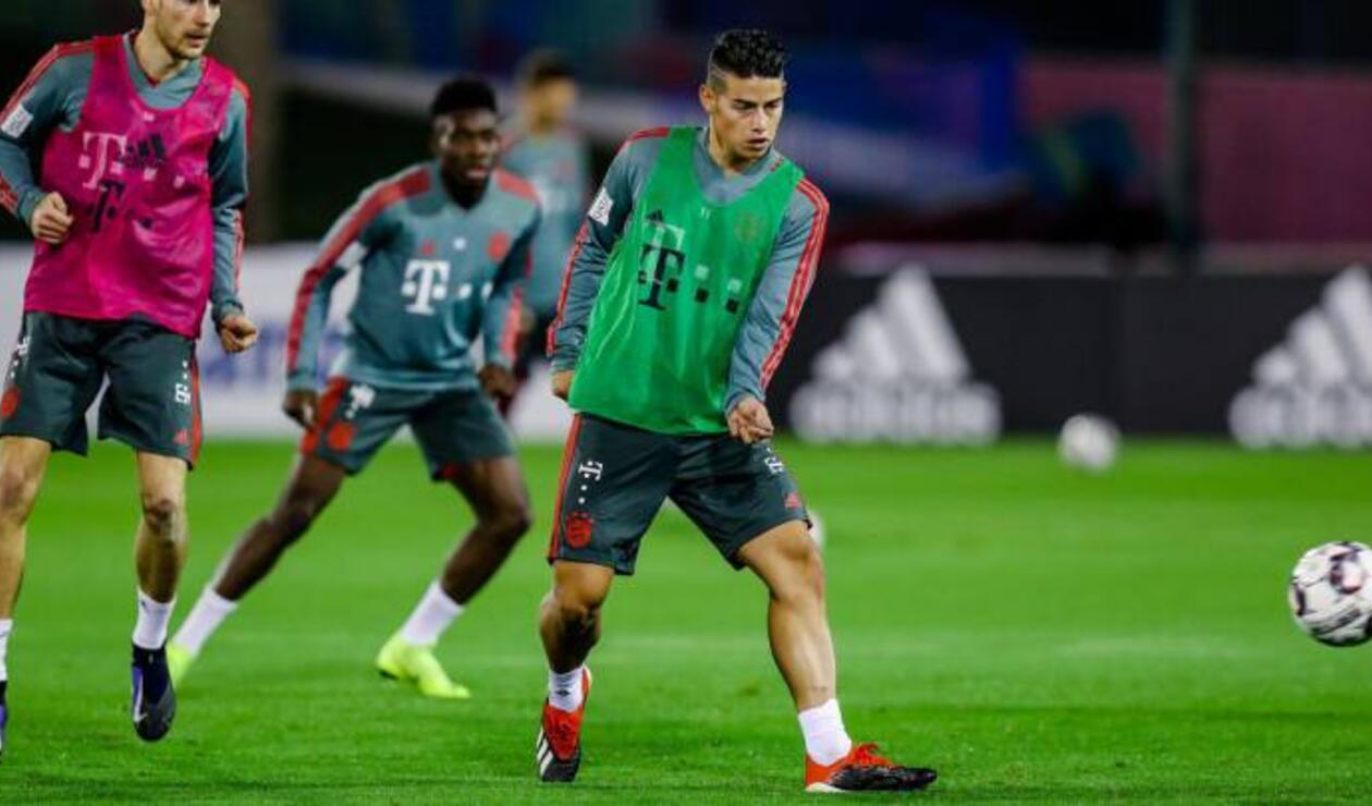 James Rodríguez entrenando con el Bayern Münich