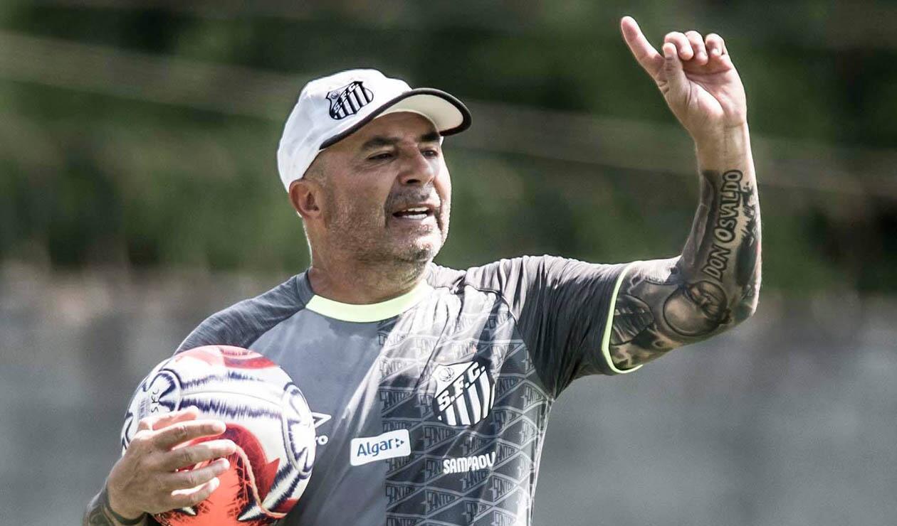 Jorge Sampaoli, técnico del Santos de Brasil