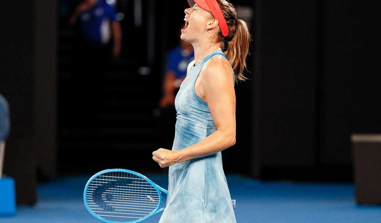 María Sharapova se impuso ante Wozniacki.