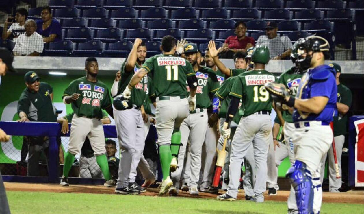 Toros suma tres victorias en las finales del béisbol colombiano.
