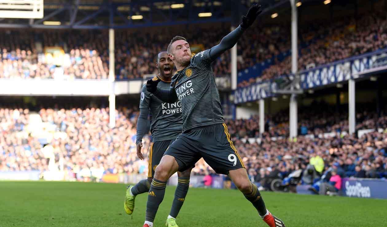 Jamie Vardy, delantero del Leicester City