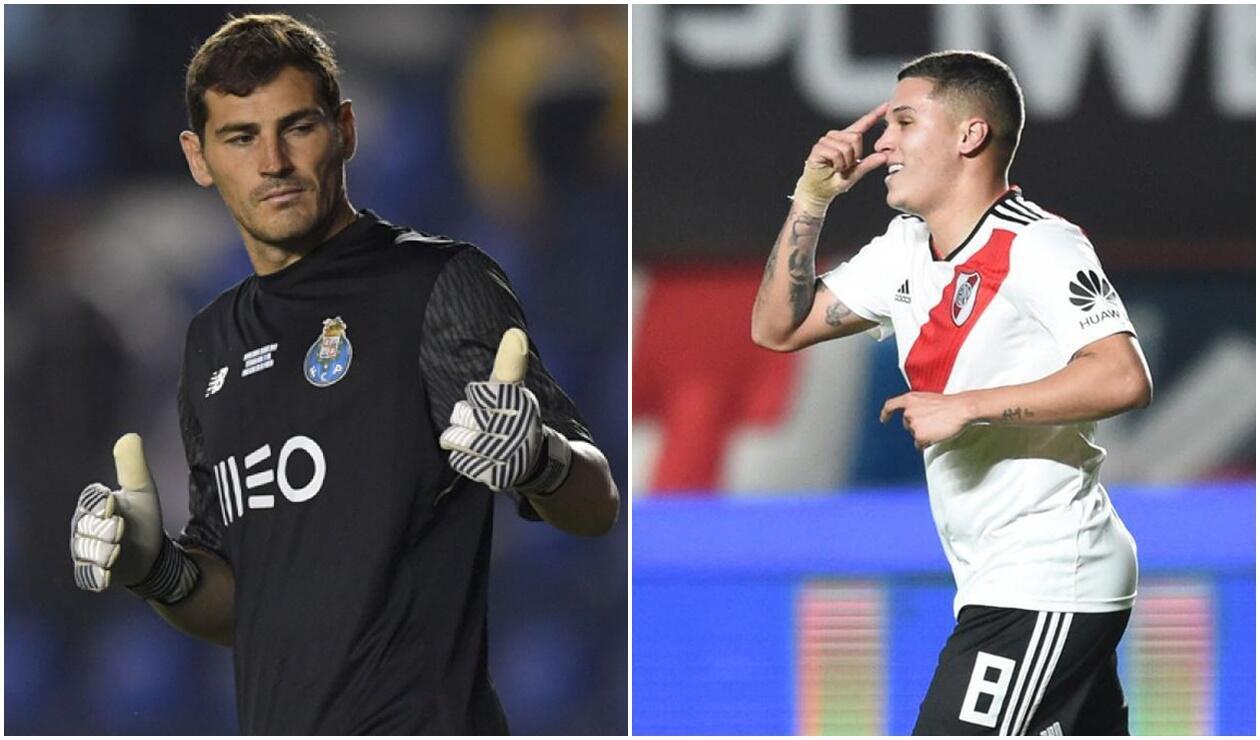 Iker Casillas y Juan Fernando Quintero