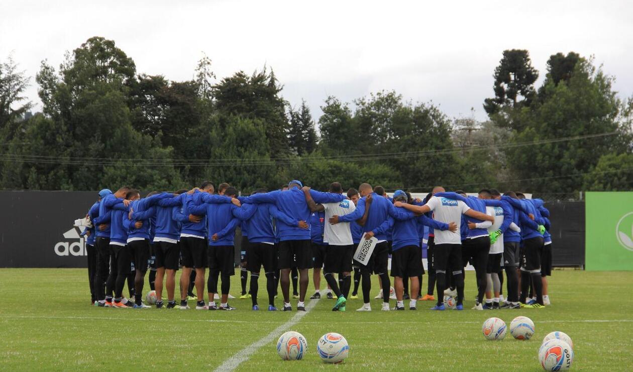 Millonarios en su primer entrenamiento en 2019