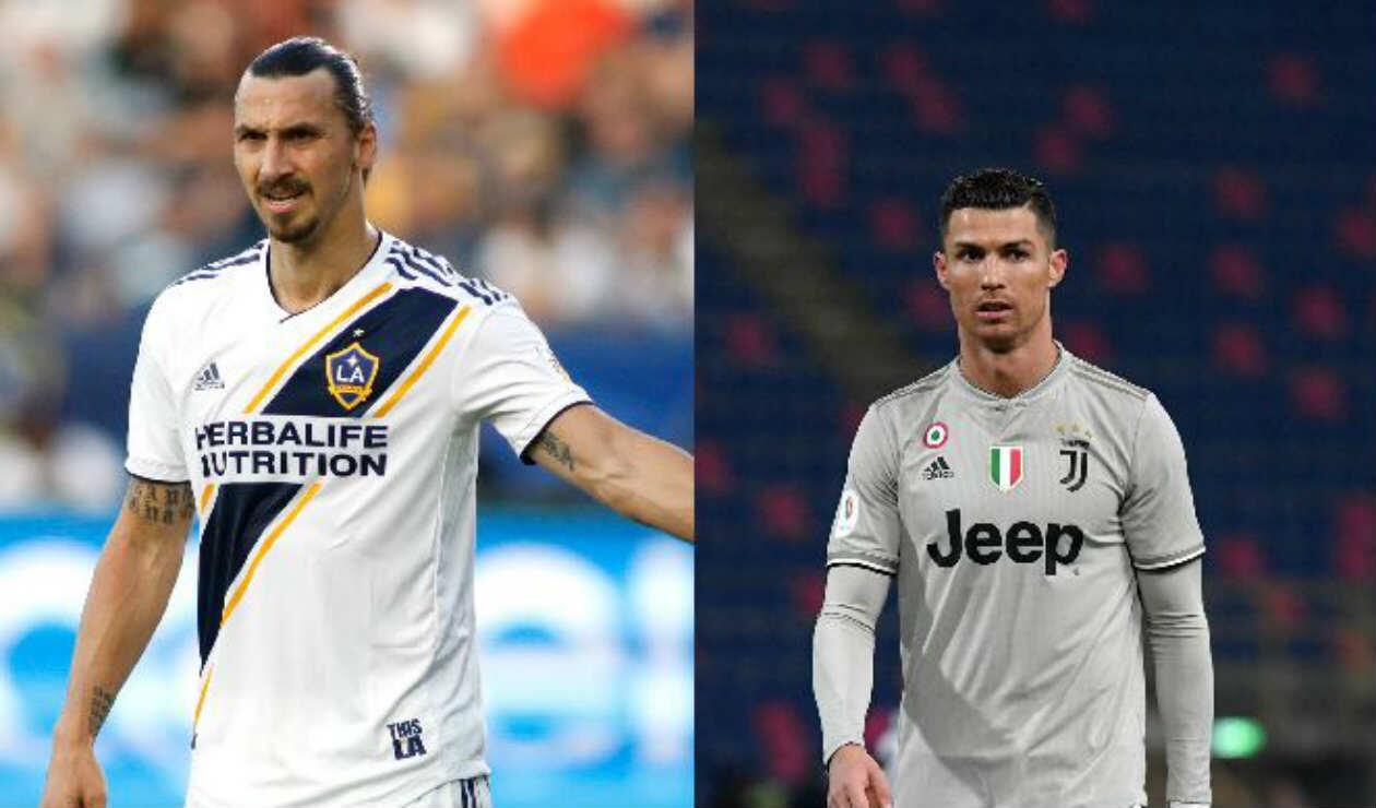 Zlatan Ibrahimović y Cristiano Ronaldo