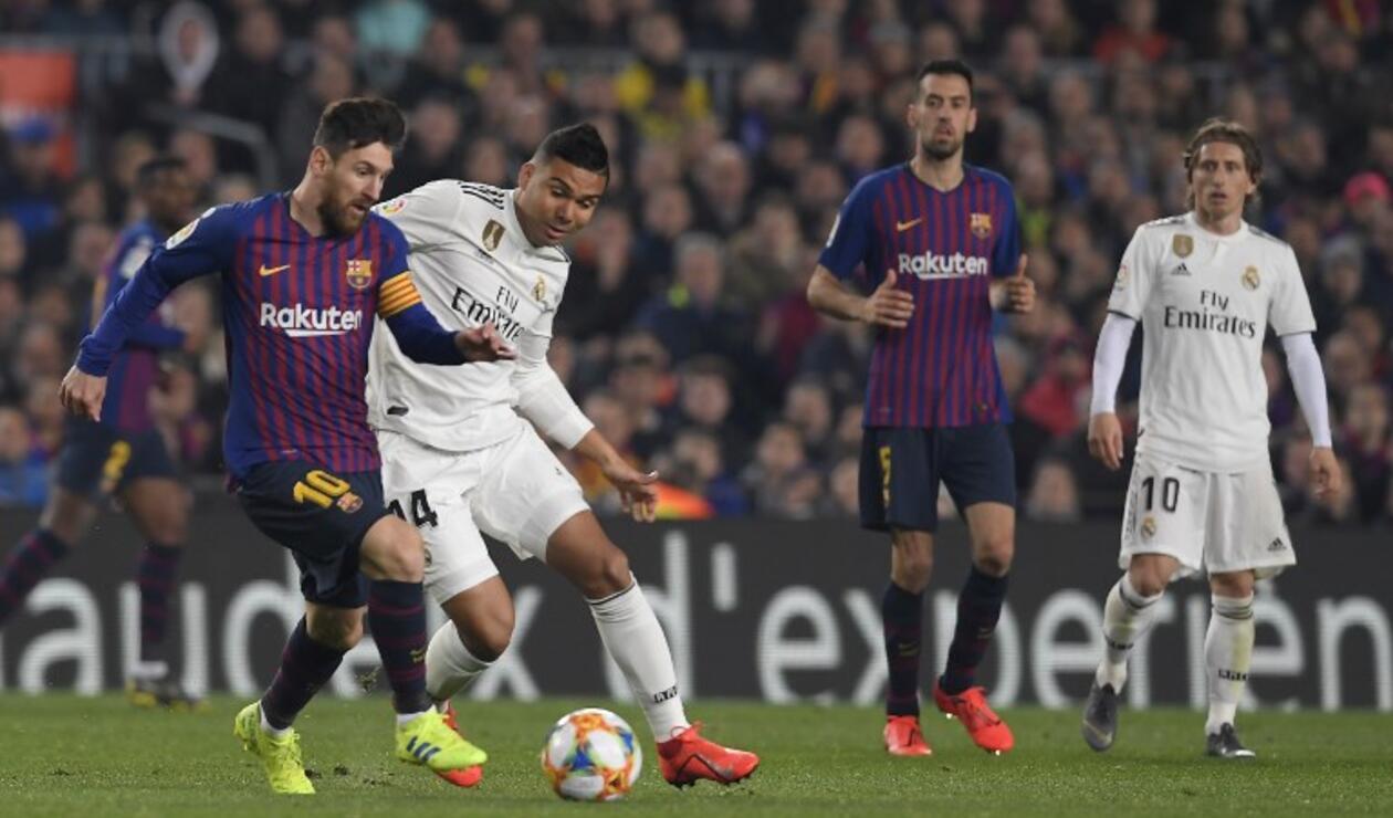 Partido entre Barcelona y Real Madrid en el Camp Nou por la Copa de Rey
