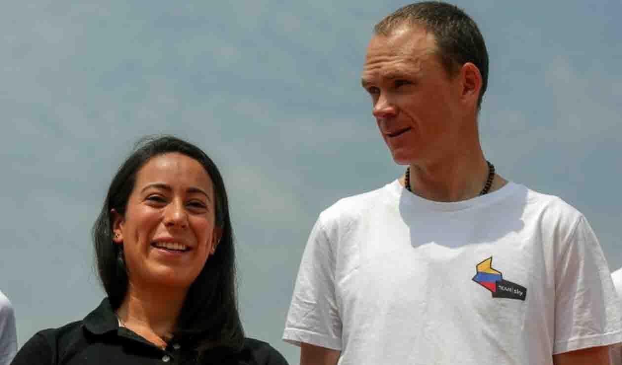 Chris Froome y Mariana Pajón comparten en Medellín con niños deportistas
