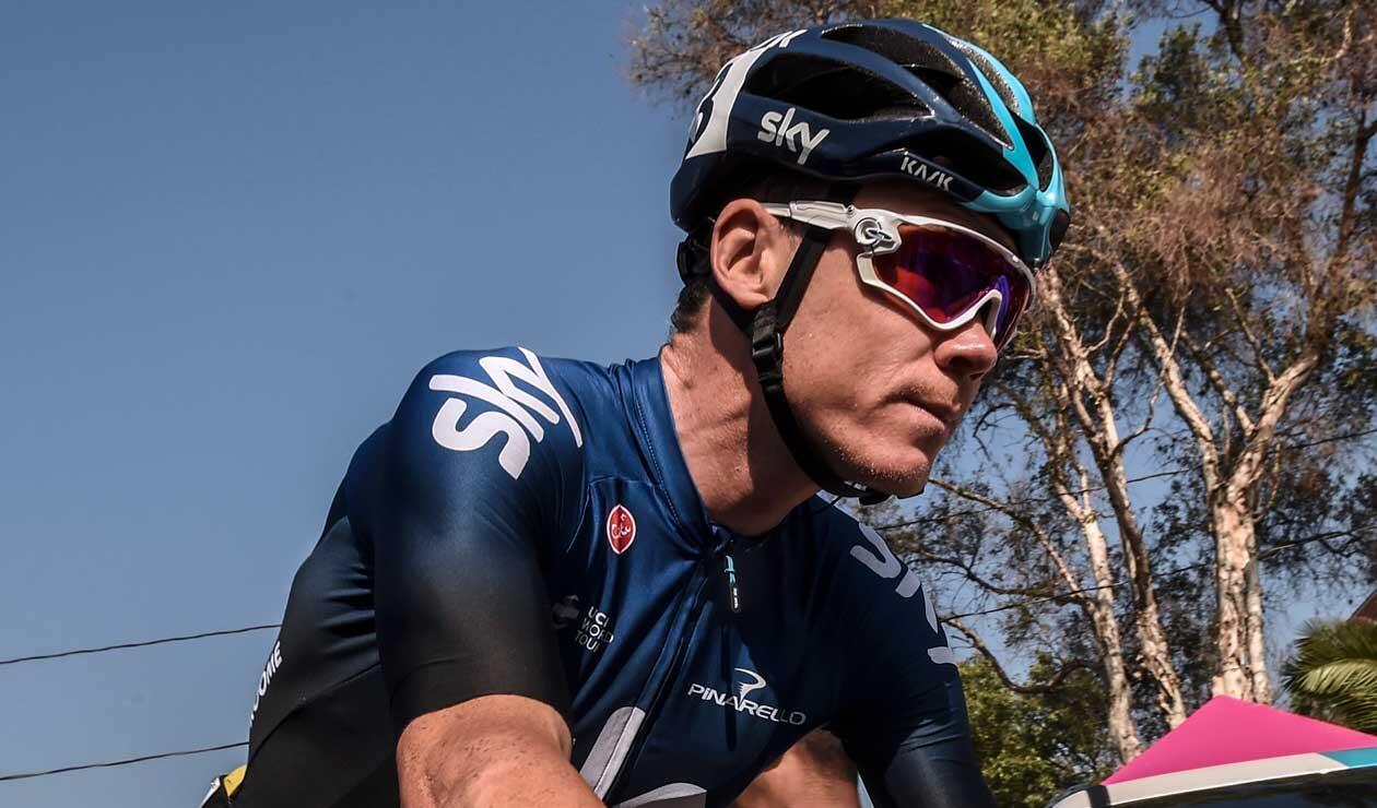 Chris Froome durante la etapa del Tour Colombia