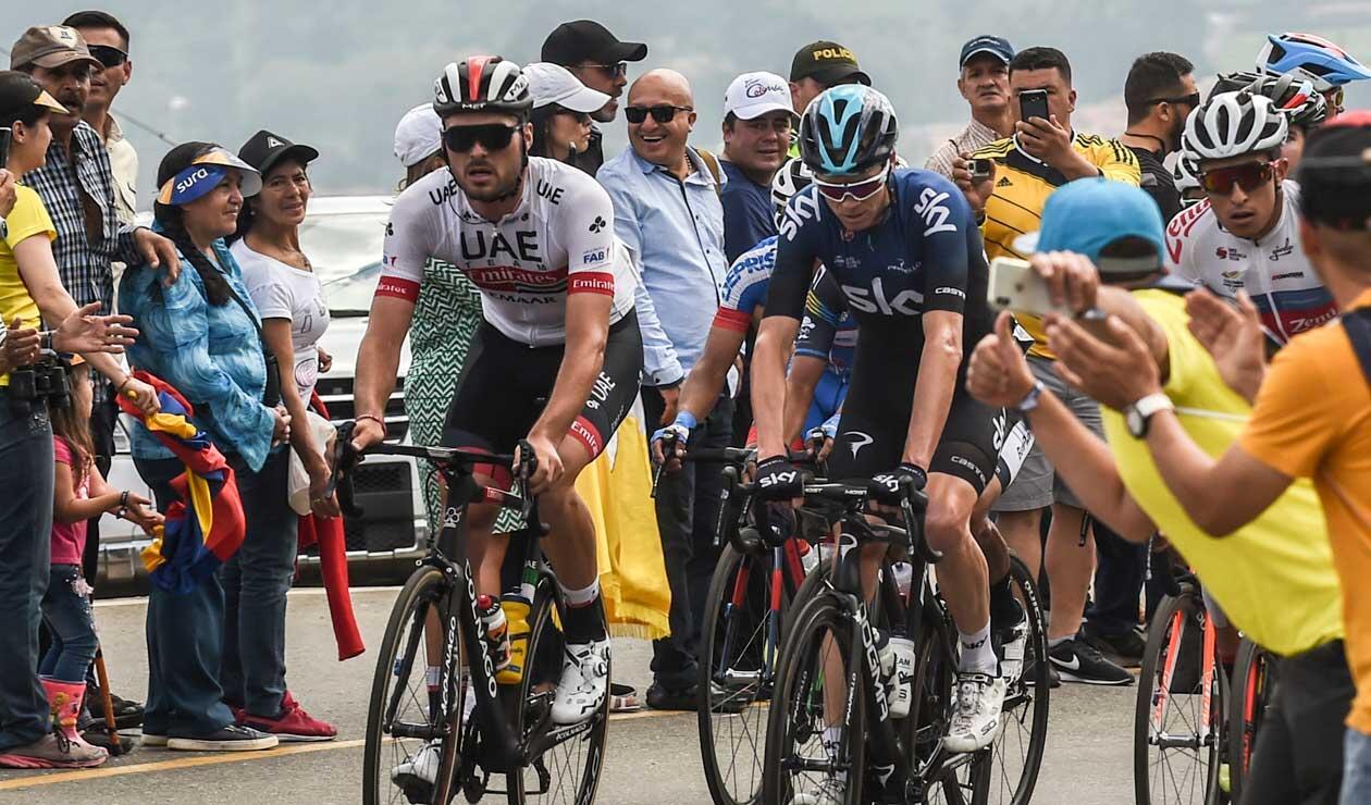 Chris Froome durante una de las últimas etapas del Tour Colombia.