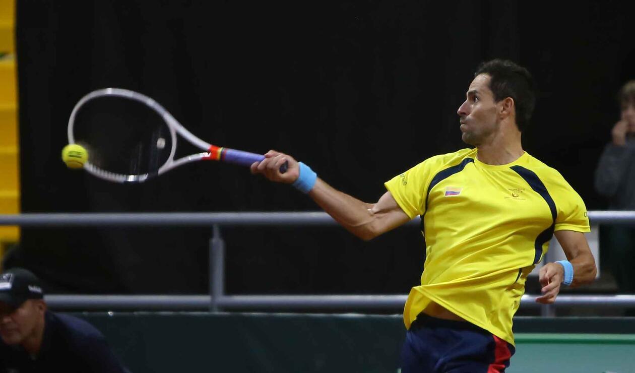 Copa Davis - Colombia vs Suecia Santiago Giraldo