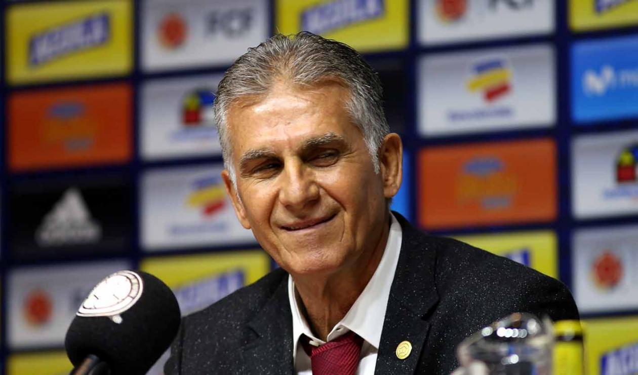 Carlos Queiroz en la presentación como técnico de la Selección Colombia.