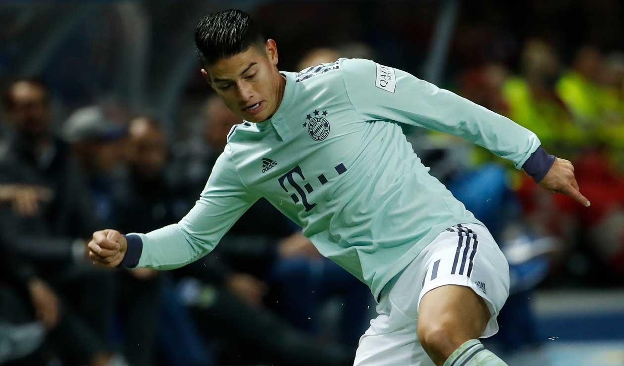 James Rodríguez se encuentra a la espera de definir su futuro en el Bayern Munich