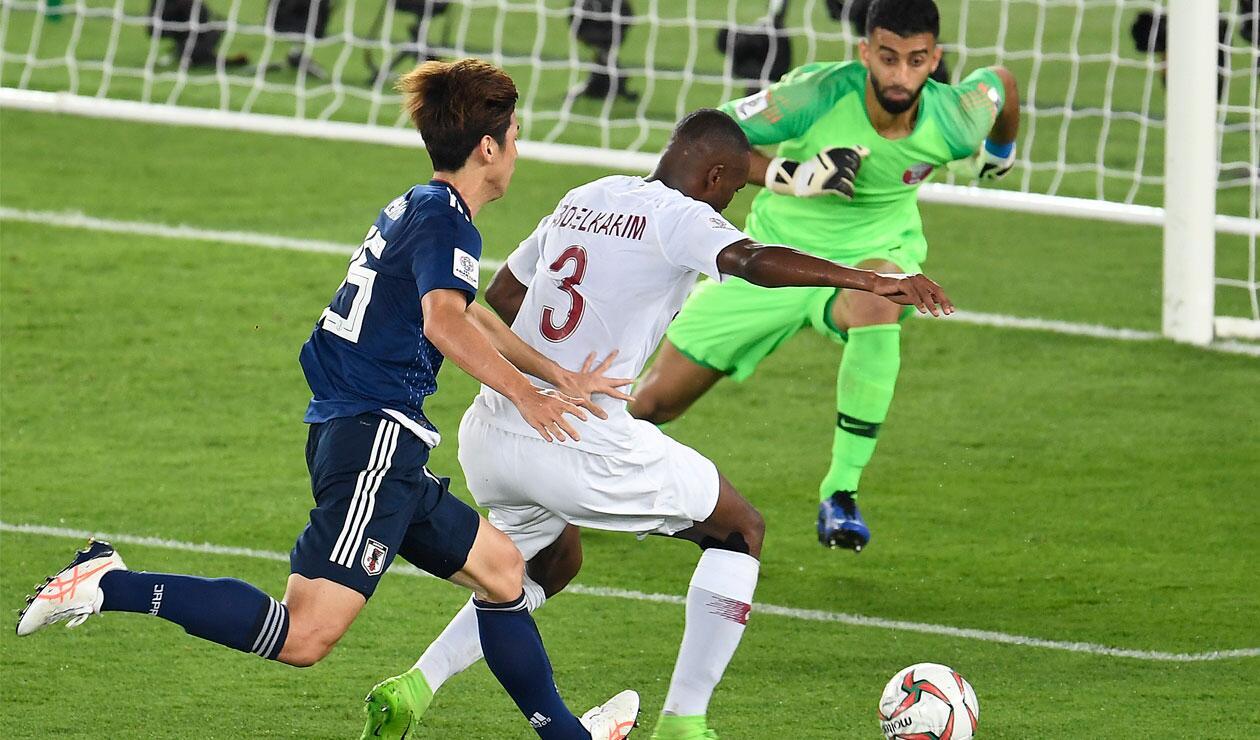 La Selección de Catar durante la final ante Japón en la Copa de Asia