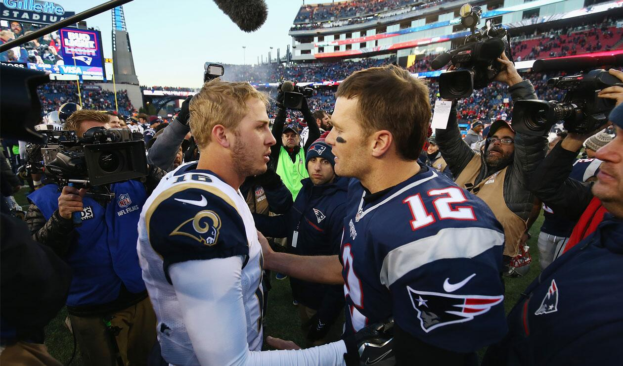 Los Rams de Los Ángeles y los Patriots de Nueva Inglaterra, otra vez cara a cara