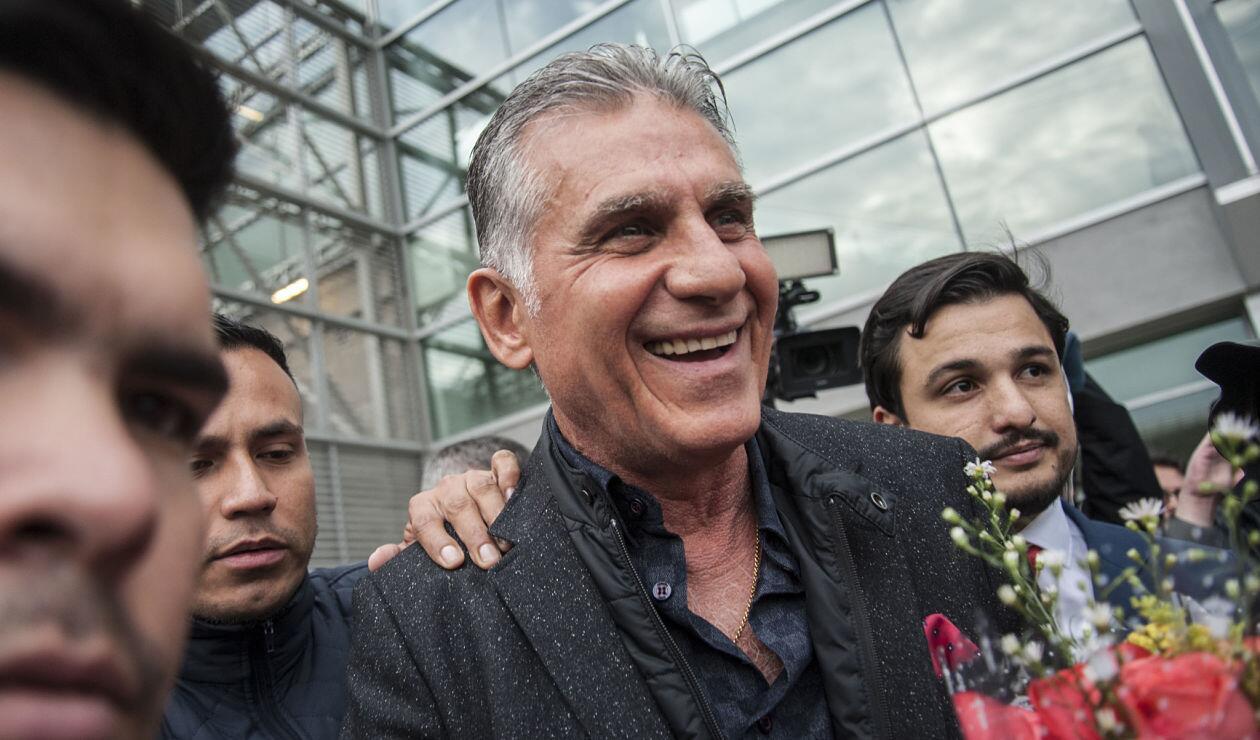 Carlos Queiroz al llegar a Bogotá antes de ser anunciado como técnico de Colombia.