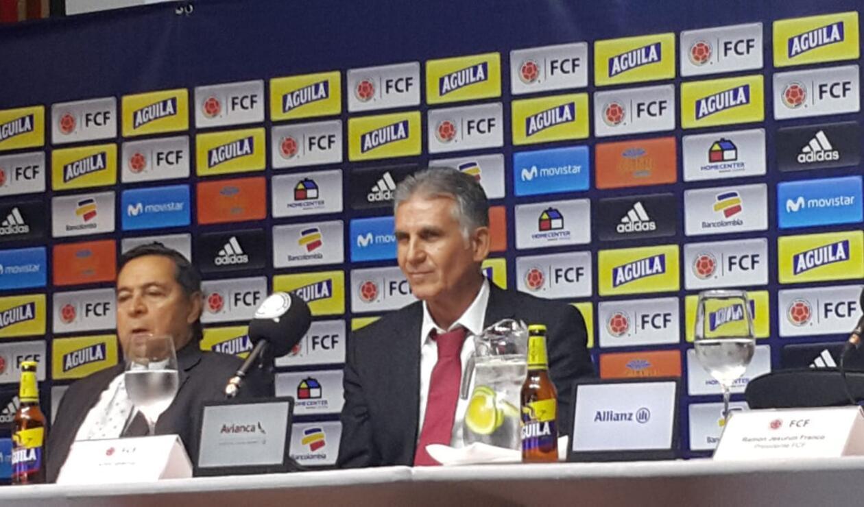 Carlos Queiroz dirigirá su primer partido con Colombia en marzo. Serán frente a Japón.