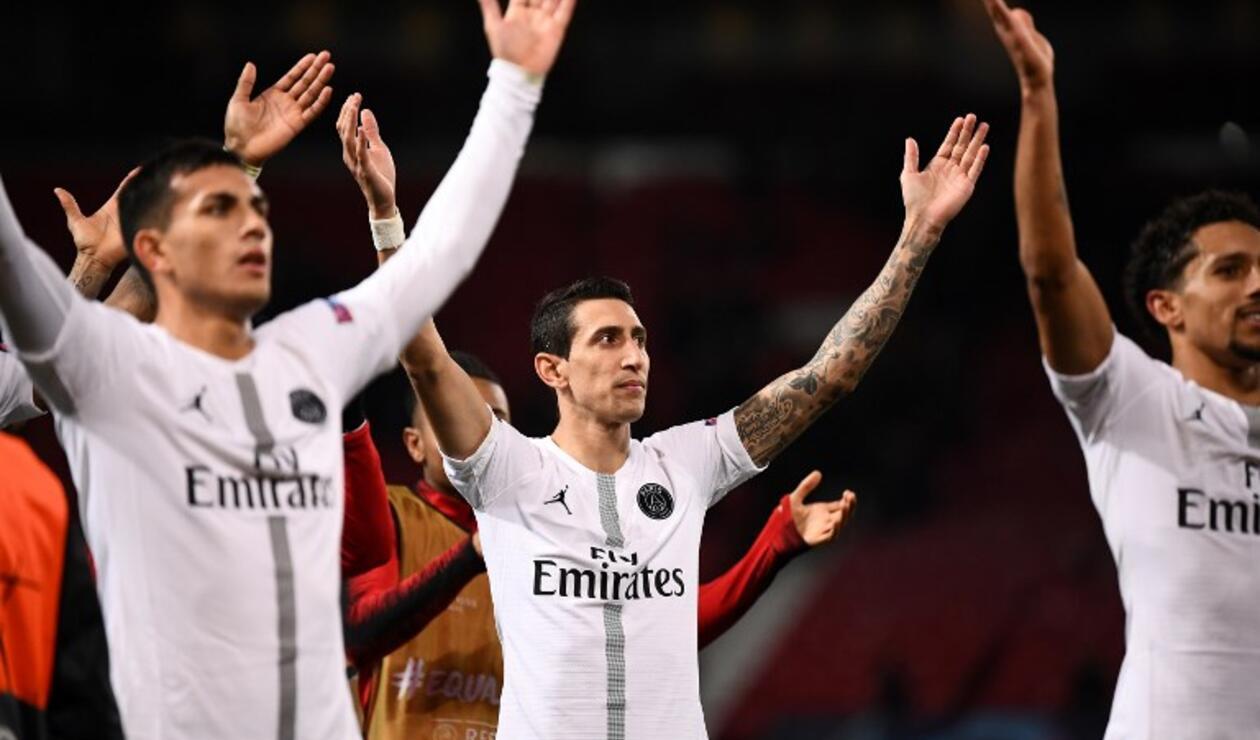 Jugadores del PSG, celebrando
